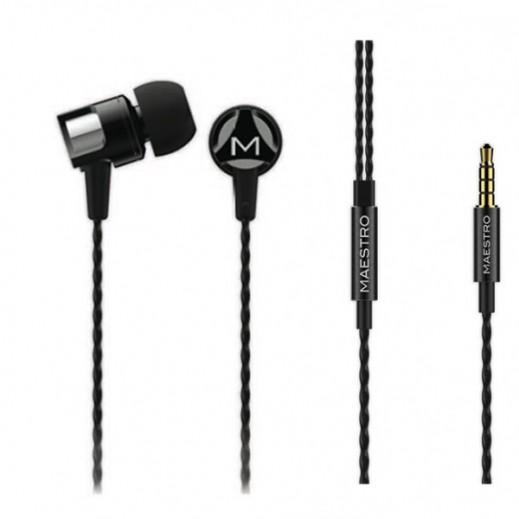 Maestro Maiko Aluminum Case Designed Earbud Black