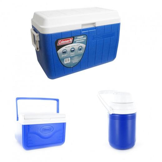 Coleman Cooler 54 Qt Combo Pack -Blue