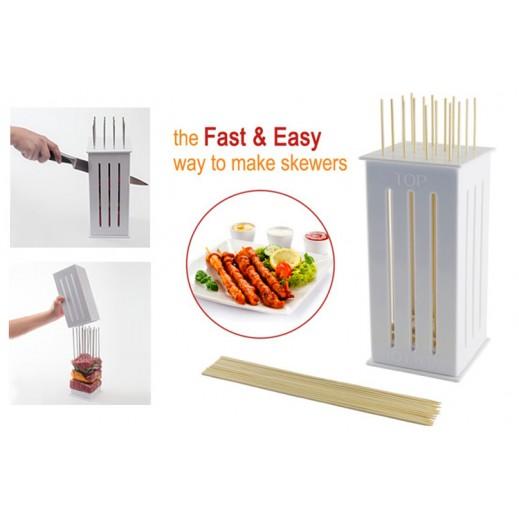 Kebab Maker Box with Stainless Steel Skewers
