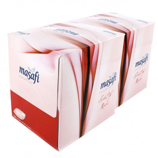 Wholesale - Masafi Rose Perfumed Facial Tissue 100s Pack (24 pieces)