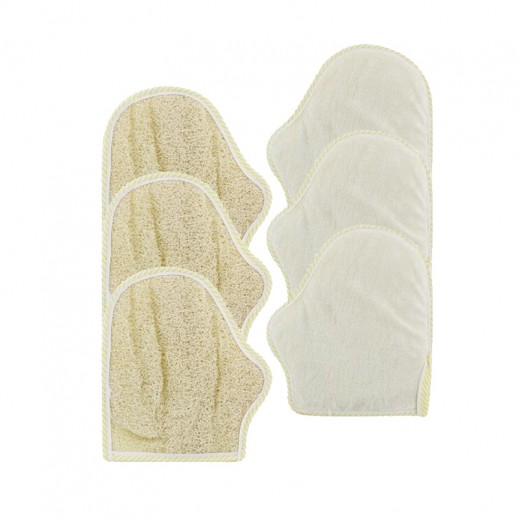 Value Pack - Falcon Loofah Glove Fingers (3 pieces)