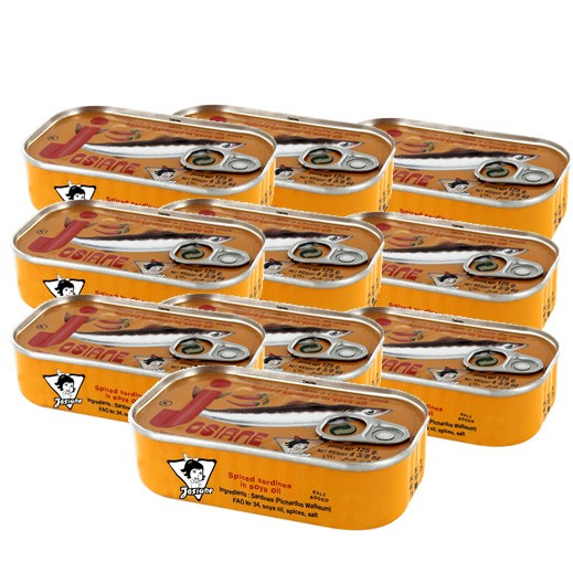 Wholesale - Josiana Sardine Spiced In Oil 125 g (10pcs)