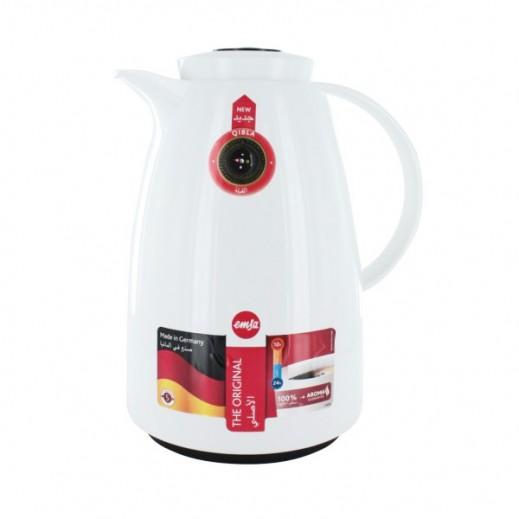 Emsa Qibla Vacuum Flask 1.5 ltr White