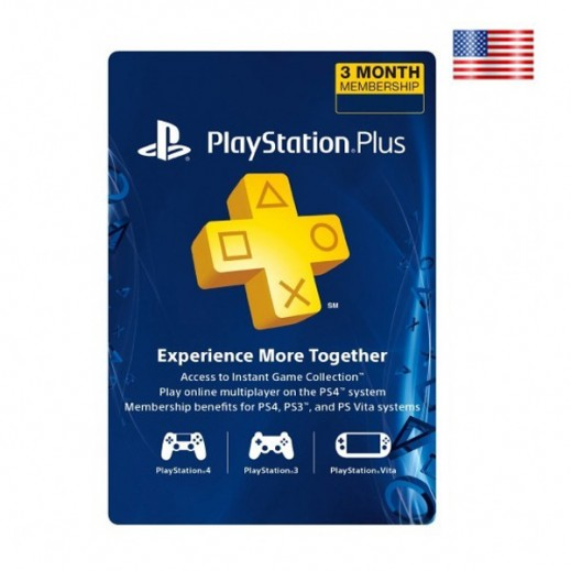 Playstation Plus 3 Months Subscription - US