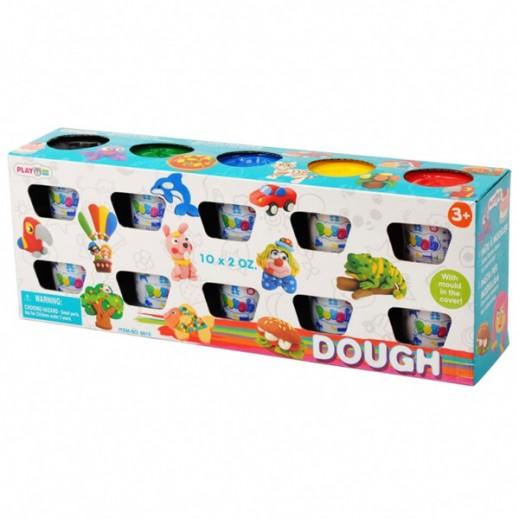 PlayGo Dough Basic Color 10X2 OZ
