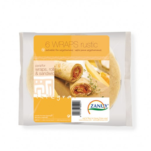 Zanuy Rustic Integral Sandwiches Wraps 240g (6 Pieces)