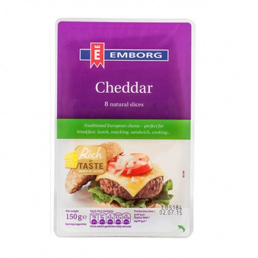 Emborg Cheddar Cheese Slice 150 g