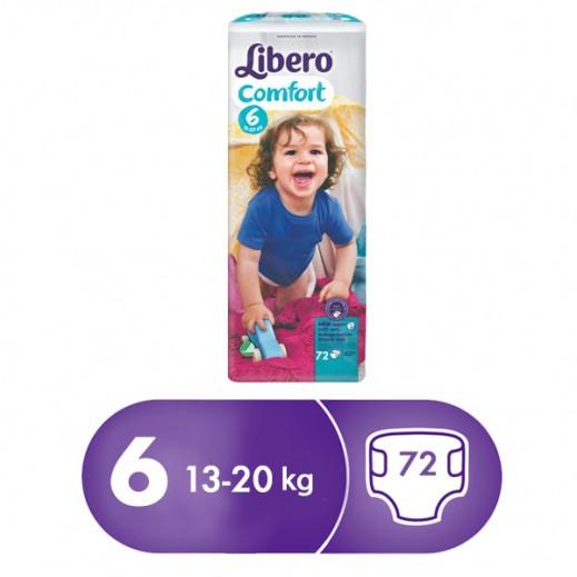 Libero Comfort Fit Diapers Size 6 (13 - 20 kg) 72 Pcs
