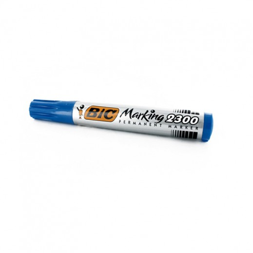 Wholesale - Bic Permanent Marker 2300 Chsl Tip Blue (12 pieces)