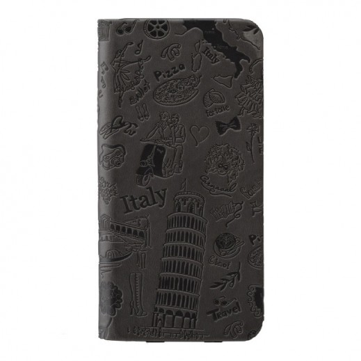 Ozaki Leather Folio Case With Two Pockets For iphone 6 Rome