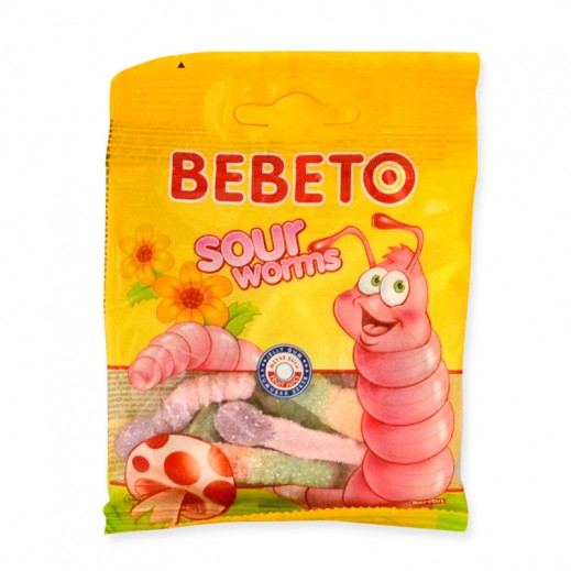 Bebeto Sour Worms 20 g