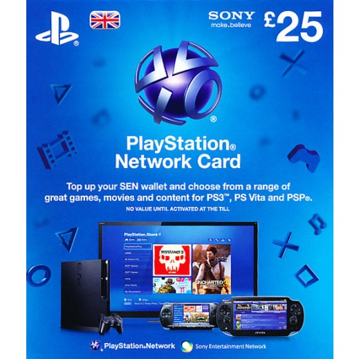 £25 Playstation Network Card - UK Store