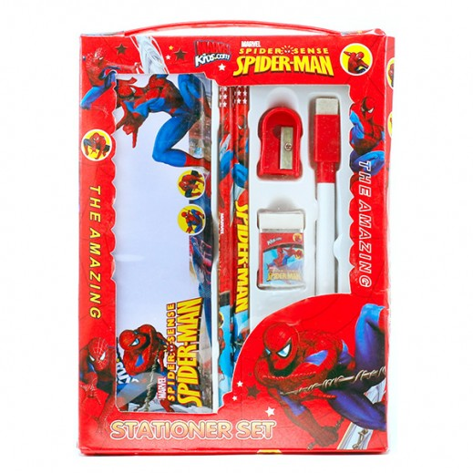 Marvel Spiderman Stationery Set Red
