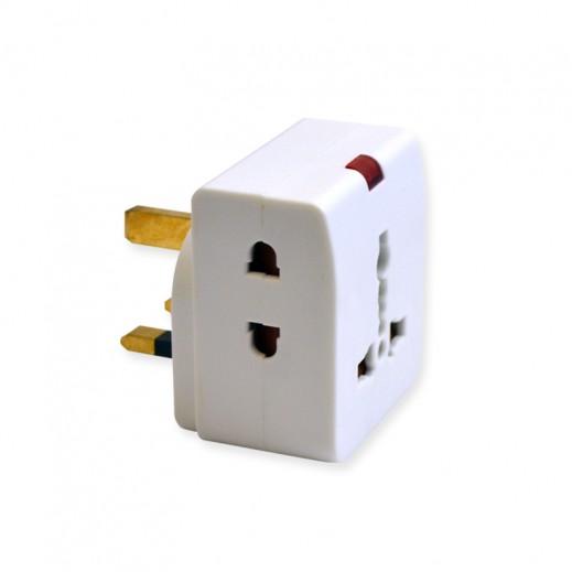 Masterplug 3 Way Universal Indoor Adapter Plug