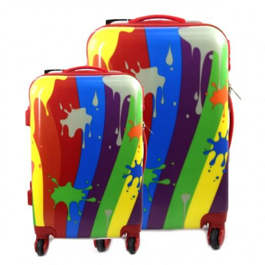 Scorpio Hard Multi Color Trolley Case 2 Pieces Set (50+76 cm)