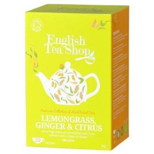 English Tea Shop Lemongrass, Ginger & Citrus Organic Tea 20 Sachets (30 g)