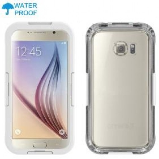 Waterproof Heavy Duty Swimming Dive Case for Galaxy S6 - White