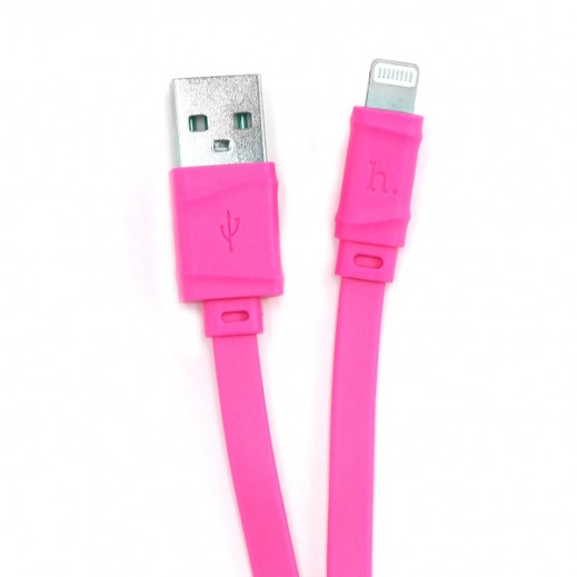 Hoco Bamboo Lightning Cable 1m Pink