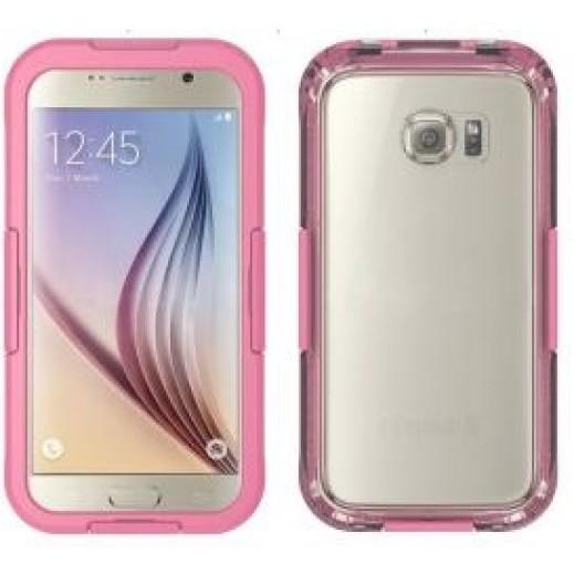 Waterproof Heavy Duty Swimming Dive Case for Galaxy S6 - Pink