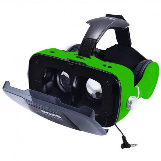 VR BOSS 3D Integrate Visual & Audition VR Headset with Mic - Green