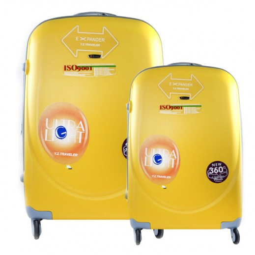 Scorpio Hard Trolley Case 2 Pieces Set -Yellow (50+76 cm)