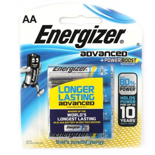 Energizer Advanced Alkaline AA Battery 4 Pack