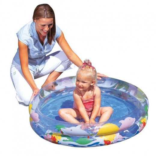 Bestway Transparent Sea Life Pool (Ø102cm x H20cm)