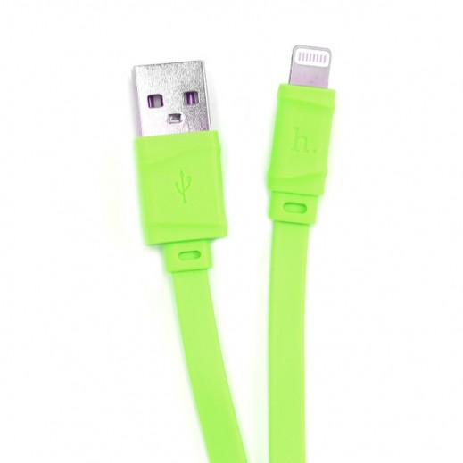 Hoco Bamboo Lightning Cable 1m Green