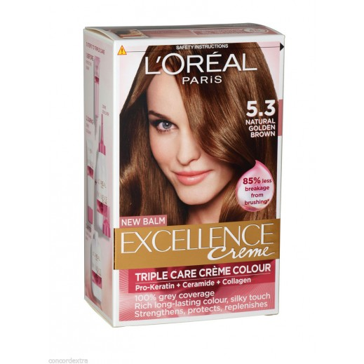 Loreal Paris Excellence 5.3 Light Golden Brown Hair Color