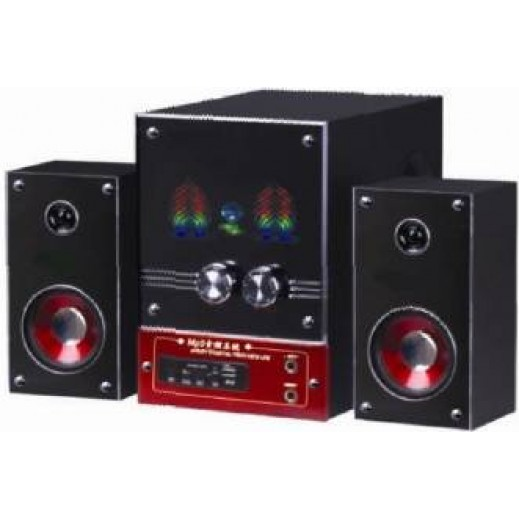Jumbo 2.1 Channel Audio System with USB/SD Card/Remote/FM Function GV-3