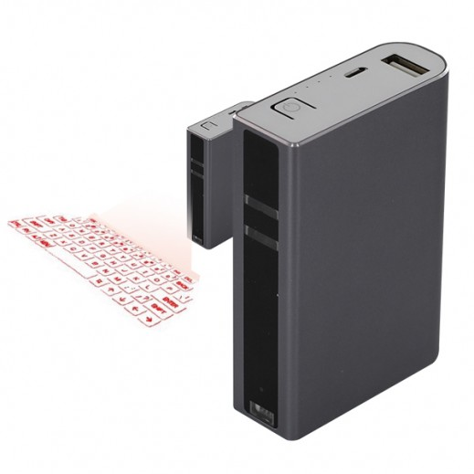 Laser Keyboard With Power Bank
