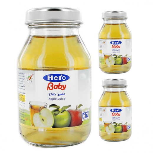 Hero Baby Food Juice -Apple (3pcs x 130ml)