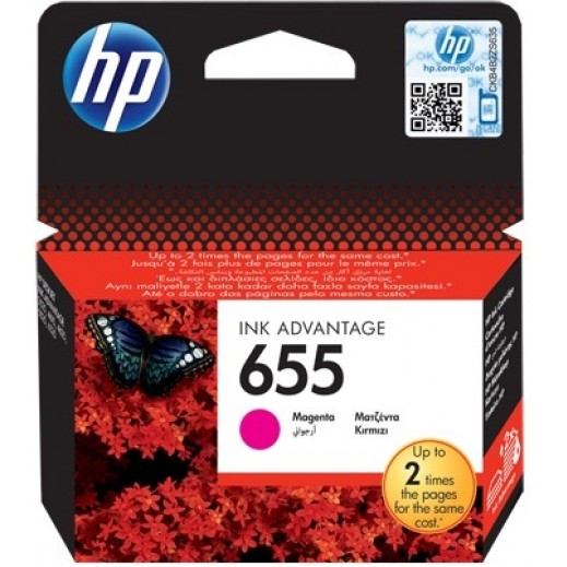 HP 655 Magenta Original Ink Advantage Cartridge