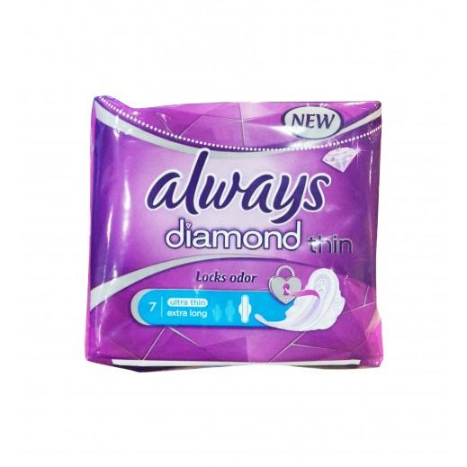 Always Ultra Thin Diamond Sanitary Pads 7s