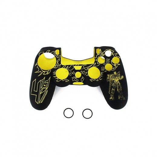 Silicone Case For PS4 Controller - Black & Yellow