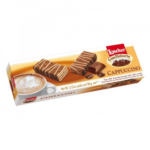 Loacker Cappuccino Chocolate Biscuits 100 g