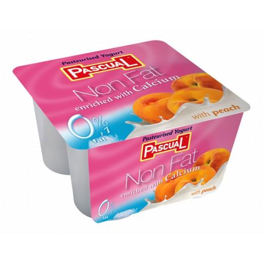 Pascual Peach Non Fat Yogurt 4 x 125g