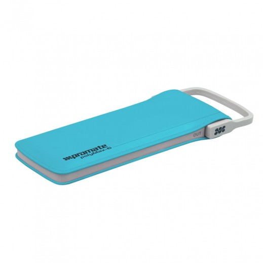 Promate Lithium Polymer Power Bank 6,000mAh with Charging Cable Blue