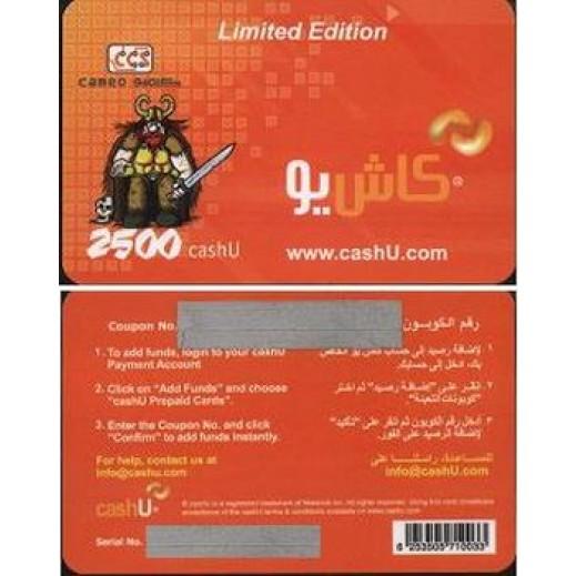 CashU Online Shopping Card 50$ (2500 Points)