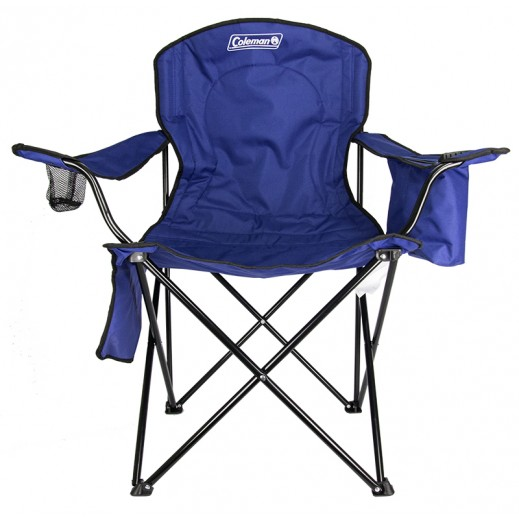 Coleman Quad Chair With Cooler-Blue