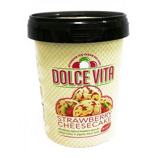 KDD Dolce Vita Strawberry CheeseCake ice Cream 500 ml