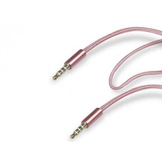 SBS Audio Stereo Cable 3.5mm for Mobile and Smartphones Pink