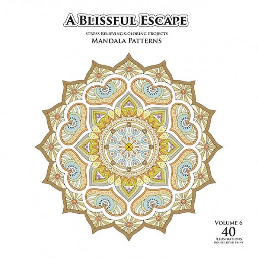 Stress Relief Coloring Book (Mandala Patterns) (Vol 6)
