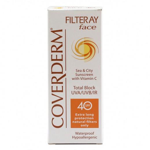 Coverderm Sunscreen Filteray Face SPF40 50 ml