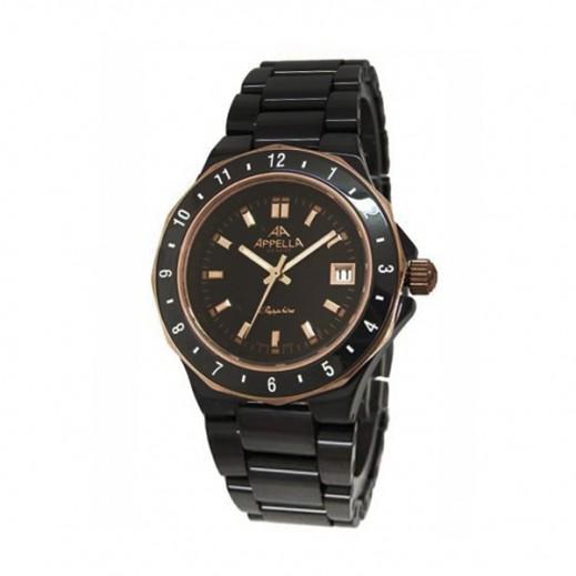 أبيلا – ساعة يد سويسرية للرجال بهيكل من السيراميك موديل (AP-4129.09.0.004)