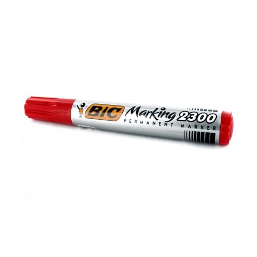 بيك – ماركر دائم برأس مشطوف 2300 – أحمر