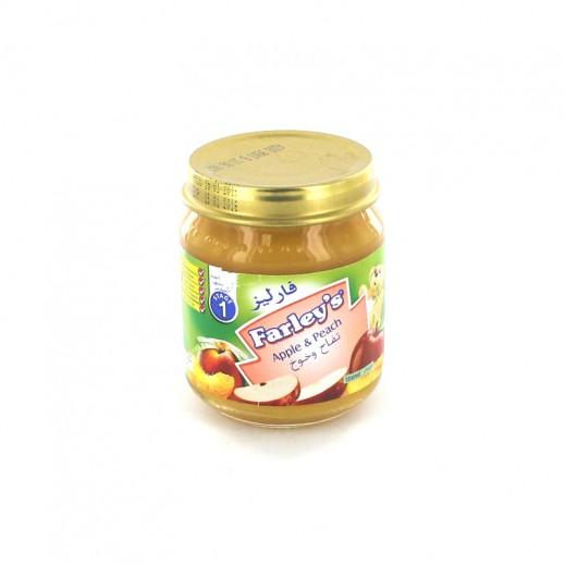 فارليز- غذاء للأطفال بنكهة التفاح والخوخ 120 جم
