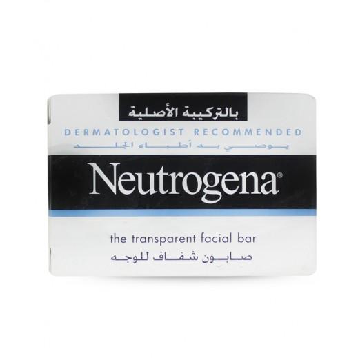نيوتروجينا – صابون شفاف للوجه بالتركيبة الأصلية 100 جم