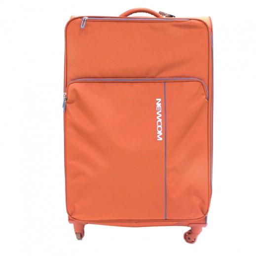"نيوكوم – حقيبة سفر "" Soft Spinner"" ترولي حجم كبير – برتقالي"