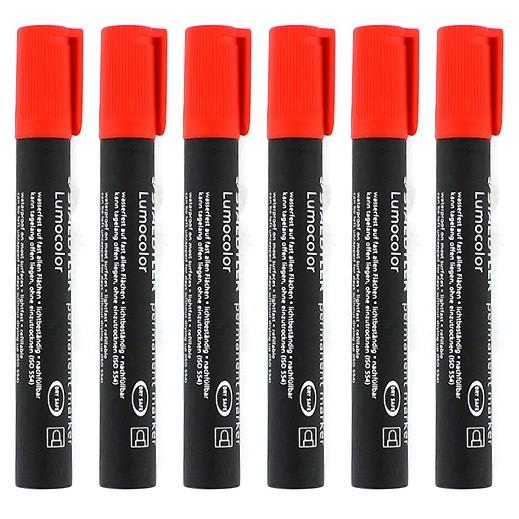 ستدلر – أقلام تعليم بحبر ثابت – أحمر (6 حبة) - عرض التوفير